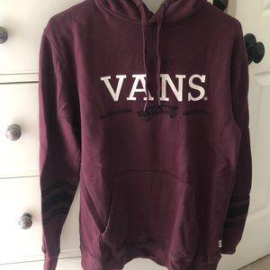 maroon vans hoodie